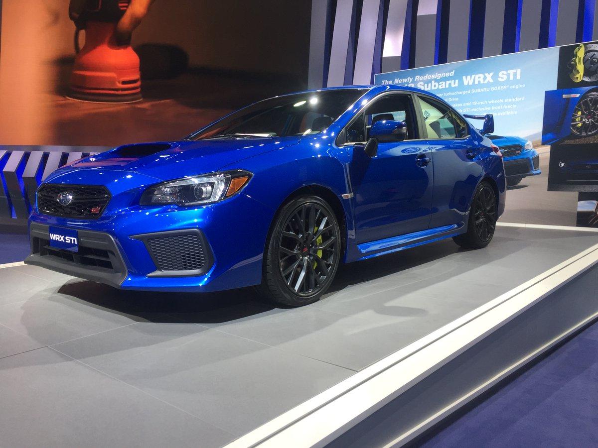 Detroit: nuove Subaru WRX e WRX STI MY18 per gli USA