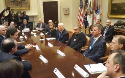 Trump incontra Marchionne, Ford e GM
