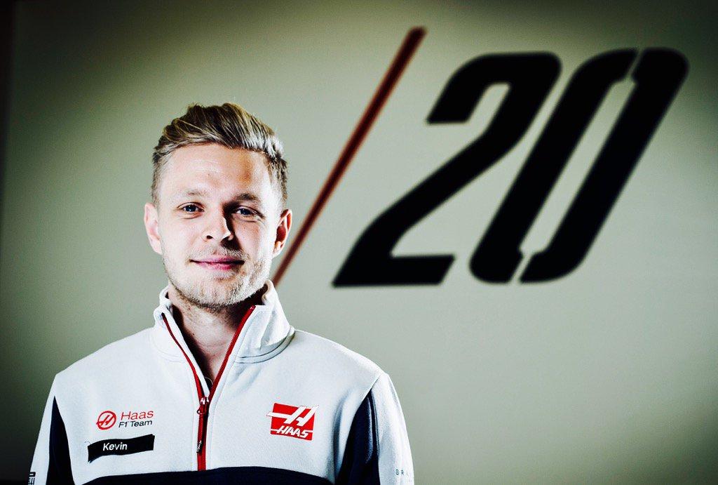 Kevin Magnussen in divisa Haas