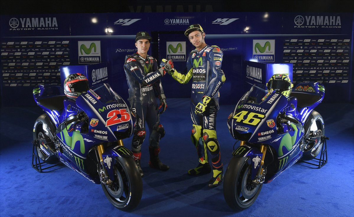 Movistar Yamaha MotoGP YZR-M1 team launch