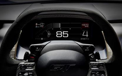 Ford GT e il display digitale adattivo