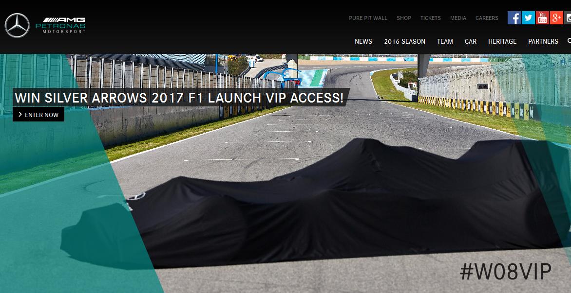 La Mercedes W08 si svela il 23 febbraio. Con concorso!
