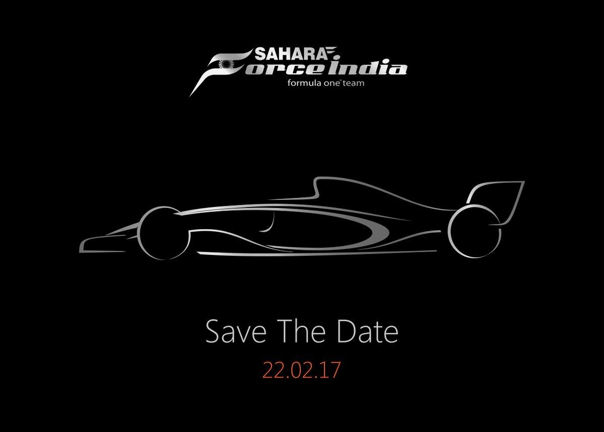Sahara Force India: presentazione il 22 febbraio