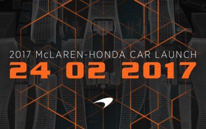 McLaren: presentazione il 24 febbraio