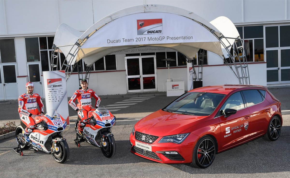 SEAT e Ducati a tutto gas nel Campionato MotoGP