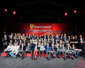 Serata di premiazione in casa Ferrari