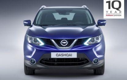 Nissan Qashqai: 10 anni di storia in numeri