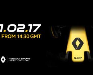 Renault R.S.17: presentazione alle 15,30 sui social