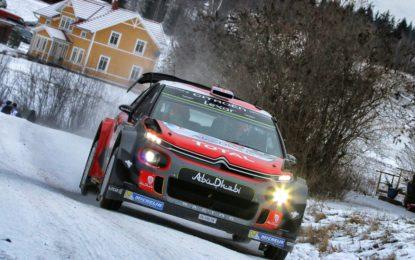 Svezia: le Citroën C3 WRC rompono il ghiaccio. Diretta Facebook