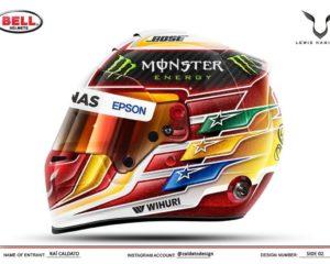 Hamilton ha scelto: ecco il suo casco 2017