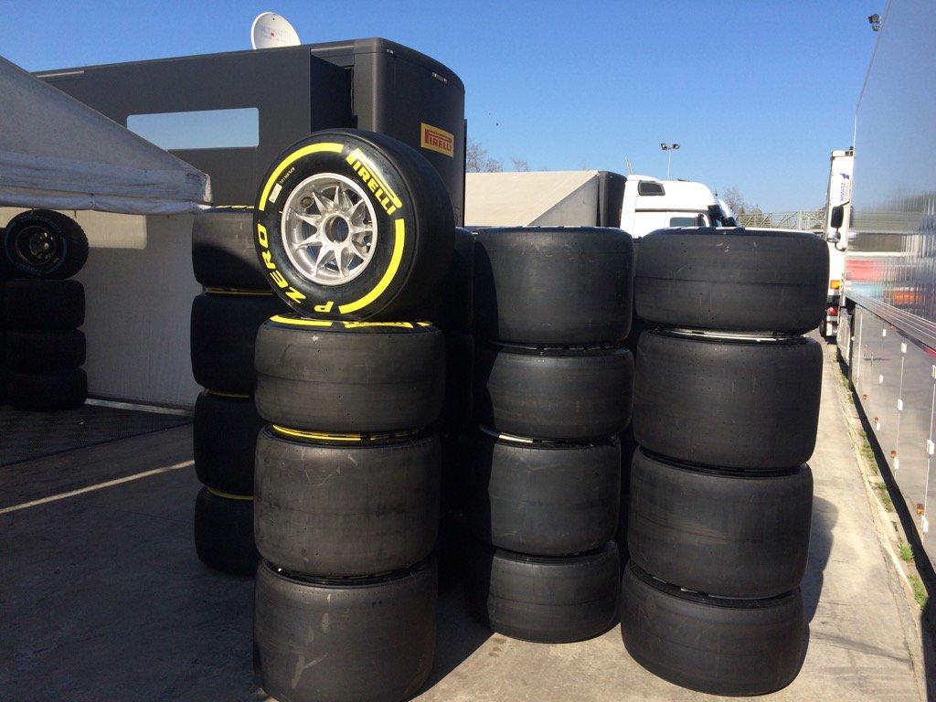 Pirelli con oltre 3.500 pneumatici ai test di Barcellona