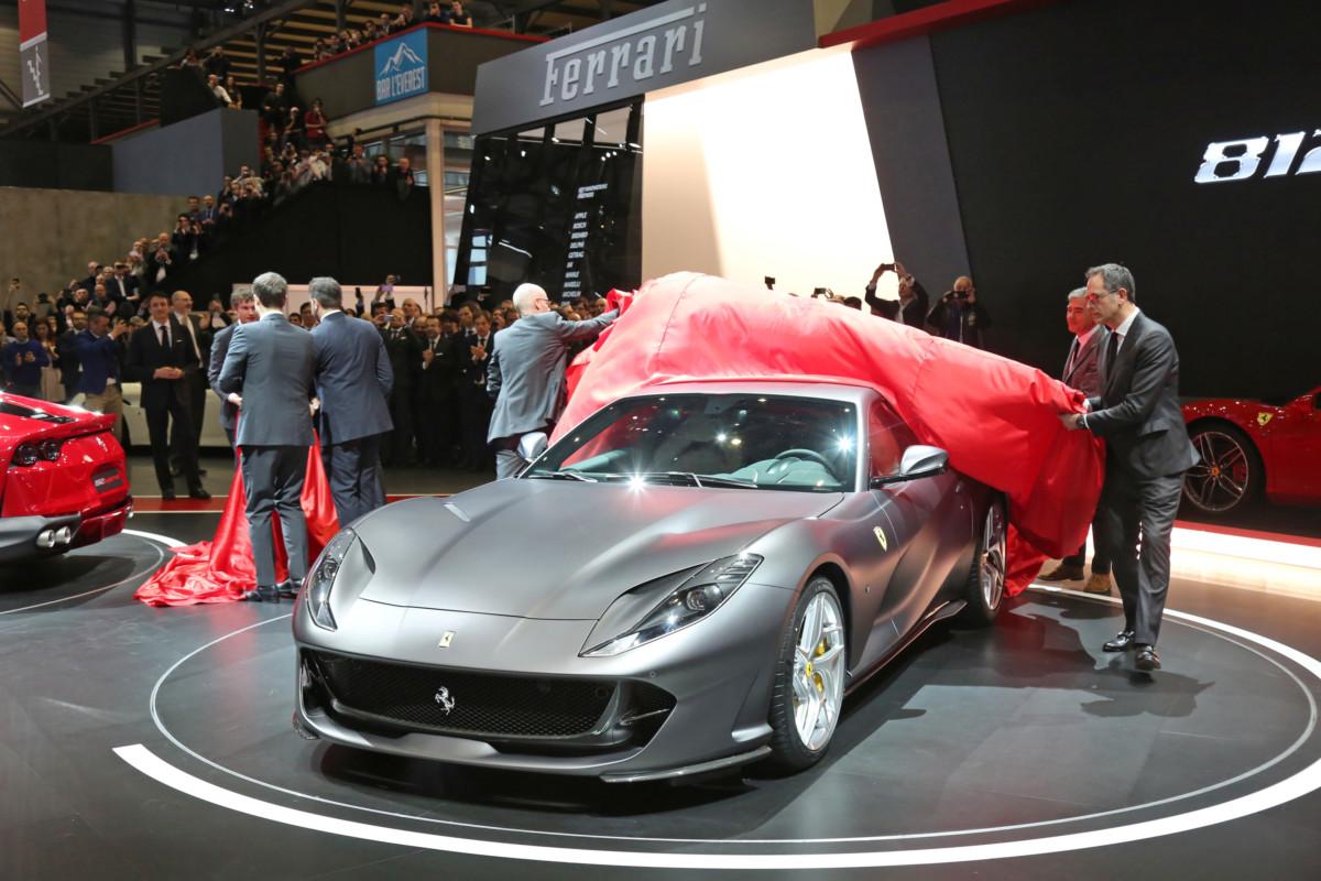 La presentazione della Ferrari 812 Superfast a Ginevra