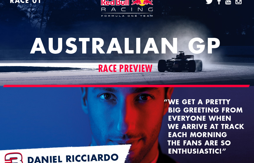 GP Australia: la Red Bull dà il via alle danze