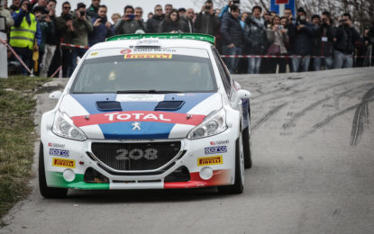 Il Ciocco: prima tappa Peugeot, con Andreucci e Pollara