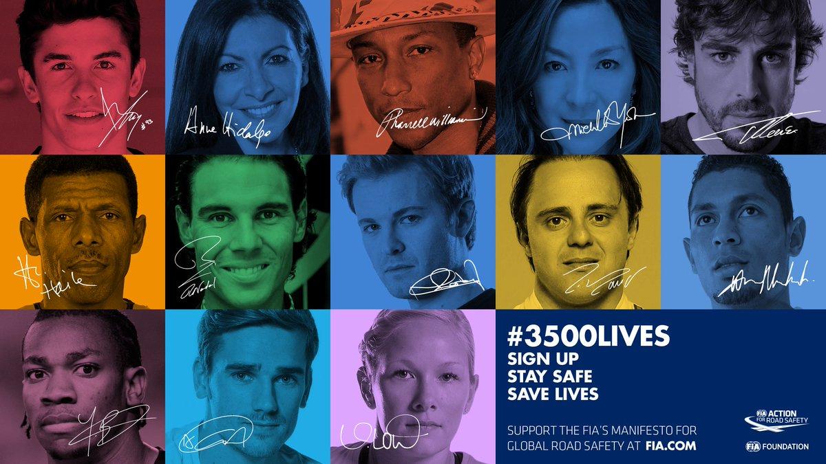 FIA e JCDecaux lanciano la campagna #3500LIVES