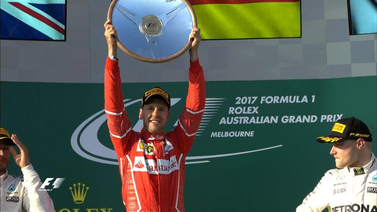 Australia: Vettel e Ferrari tornano alla vittoria, Mercedes sul podio