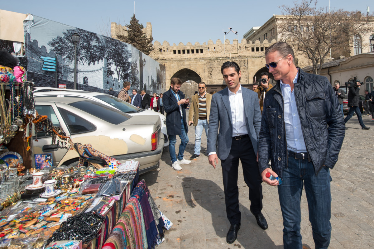 David Coulthard al Baku City Circuit