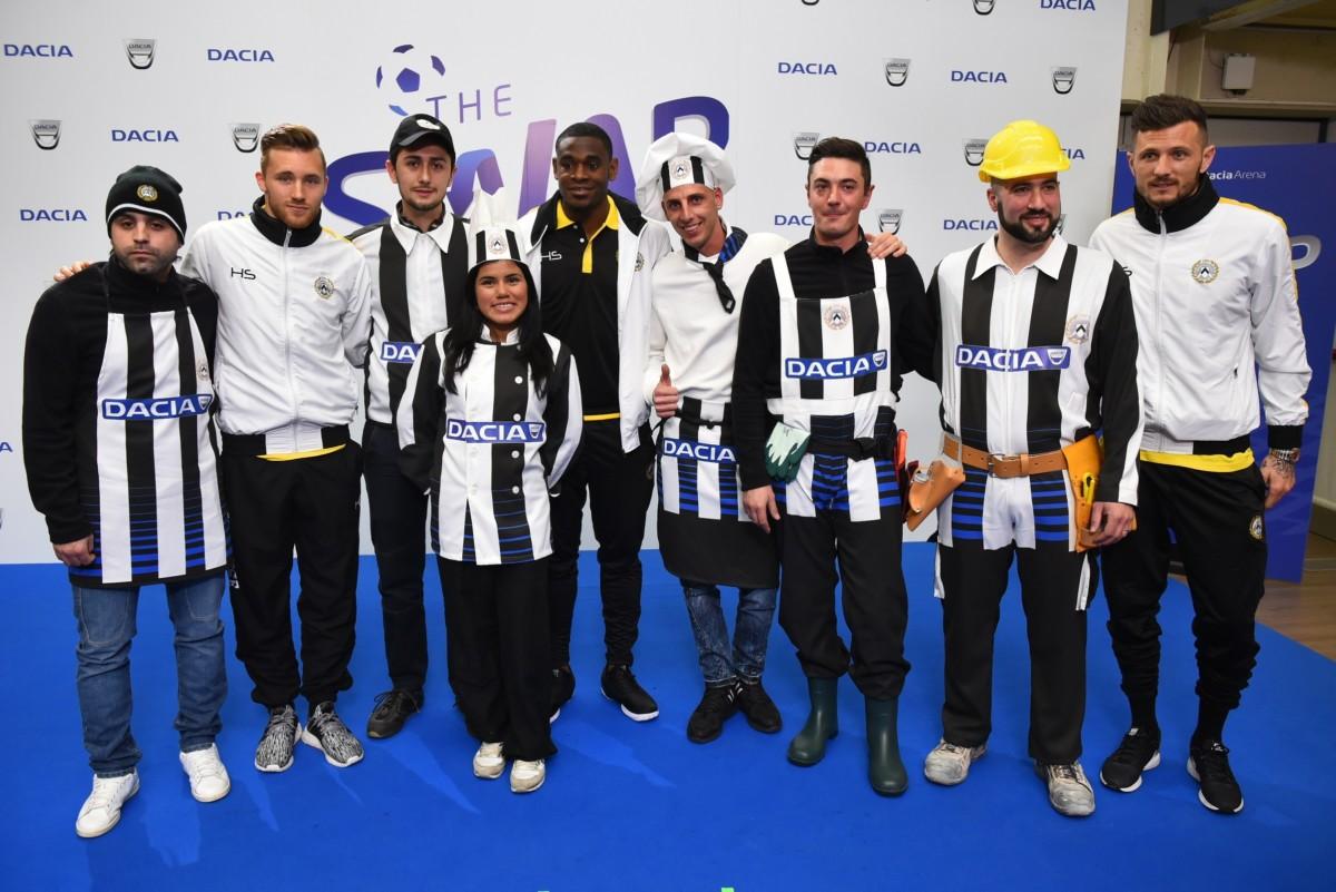 Dacia the Swap: i giocatori dell'Udinese cambiano lavoro