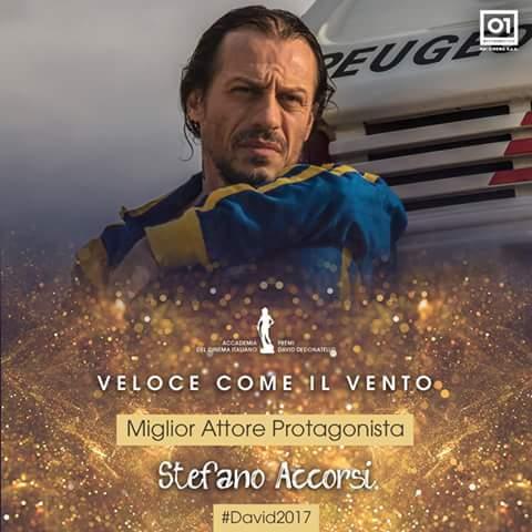 David di Donatello a Veloce come il vento, Accorsi e Peugeot!