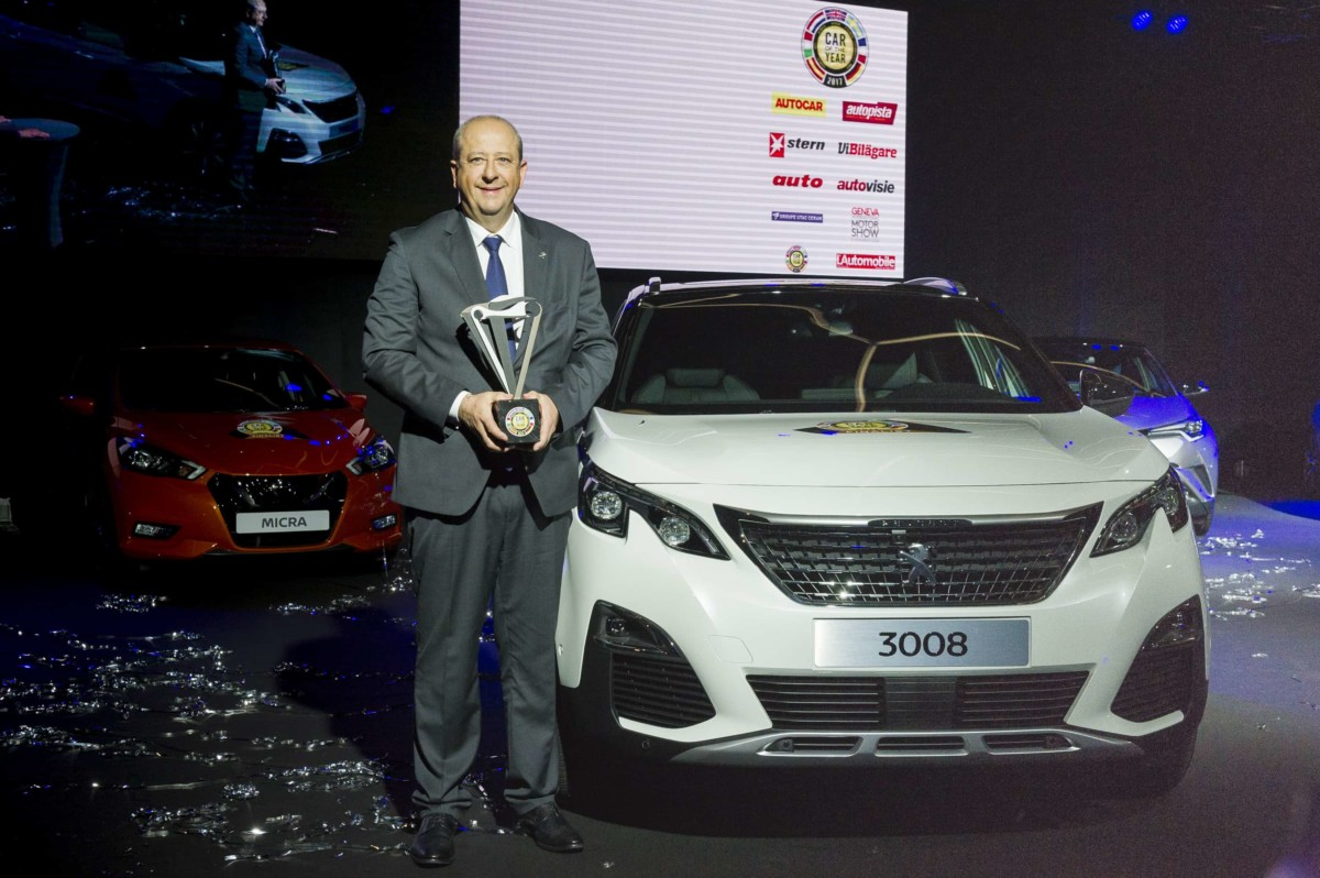 Peugeot 3008 è Car Of The Year 2017