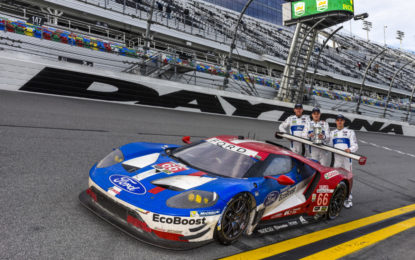 Team Ford Chip Ganassi Racing a Sebring con tre Ford GT