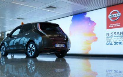 Nissan LEAF e AS Roma: zero emissioni anche all'aeroporto