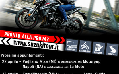Suzuki DemoRide Tour: le tappe del weekend