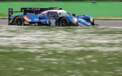 Prova generale Alpine A470 nel Prologo WEC a Monza