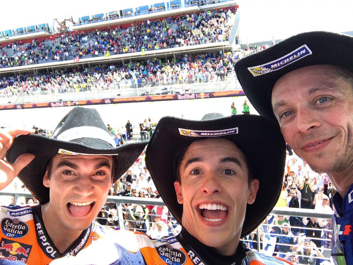Marquez conquista per la quinta volta gli USA. Rossi 2° e nuovo leader