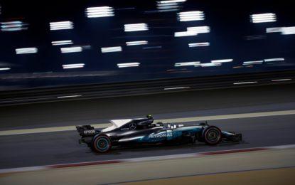Bahrain: prima pole di Bottas, davanti a Hamilton e Vettel