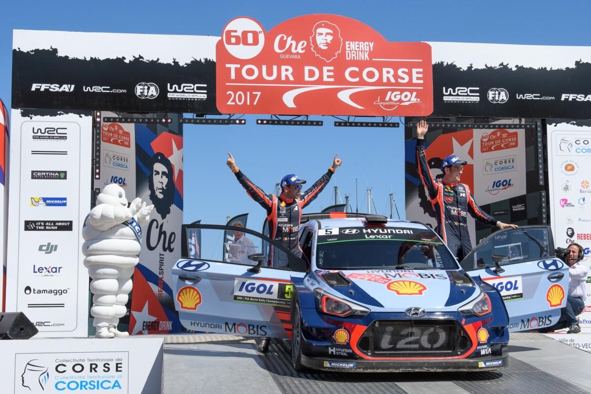 WRC: Neuville e Hyundai conquistano la Corsica