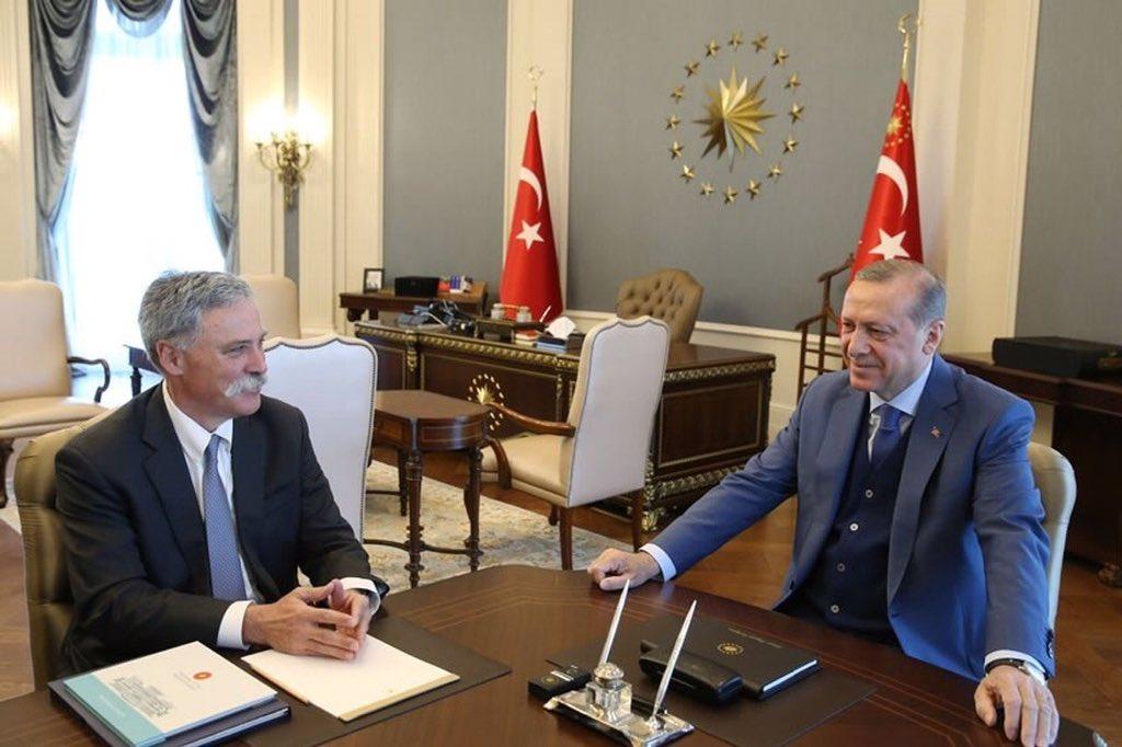 Carey incontra Erdogan: ritorna il GP di Turchia?