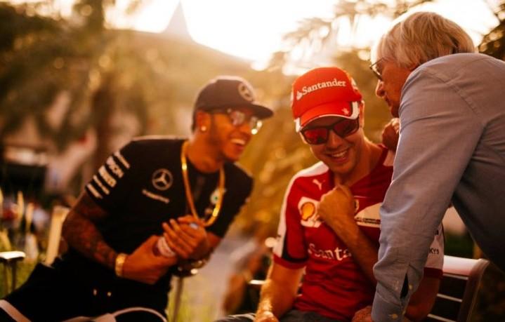 Ecclestone: Vettel forte, ma il favorito al Titolo è Hamilton