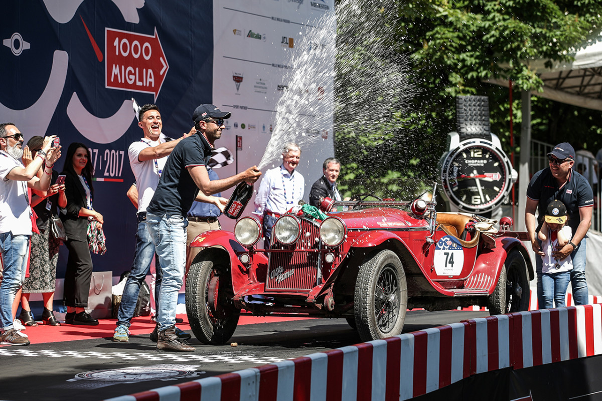 Alfa Romeo regina della Mille Miglia 2017