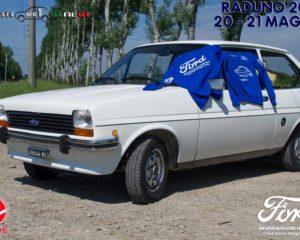La Ford Fiesta Mk1 di casa Tedeschi al raduno Amici dell'Ovale Blu