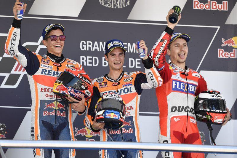 MotoGP: Pedrosa, Marquez e Lorenzo sul podio di Jerez