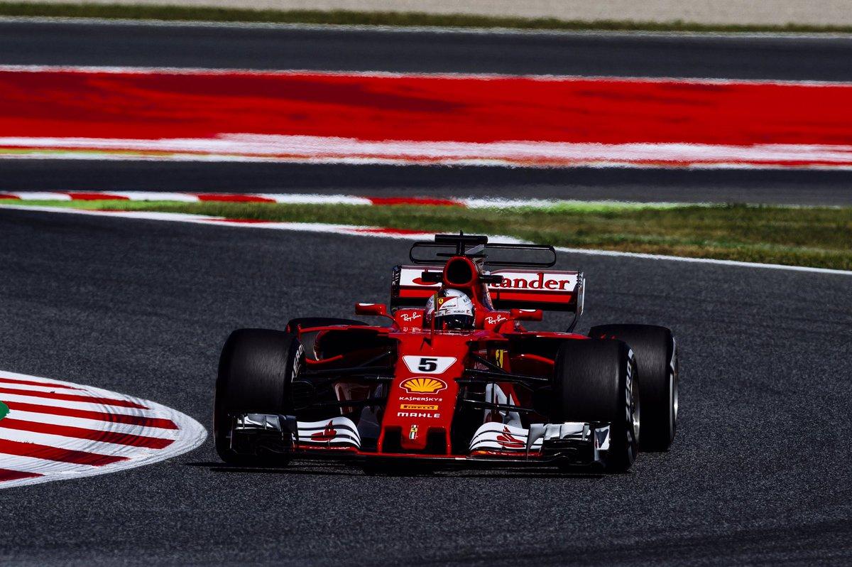 Spagna: sostituito il motore di Vettel