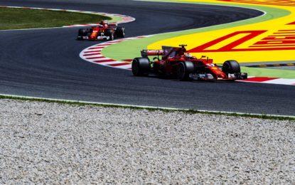 Spagna: Ferrari in prima e seconda fila con Vettel e Raikkonen