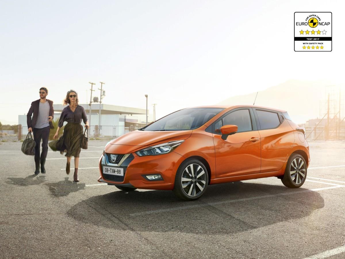 Nuova Nissan Micra viaggia a 4 e 5 stelle