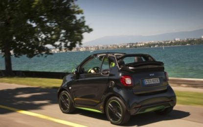Nuova smart fortwo cabrio electric drive