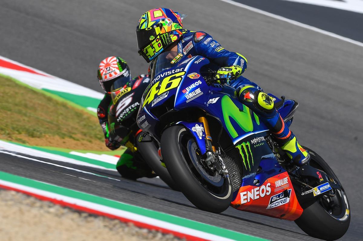 Venerdì non facile al Mugello per Valentino Rossi