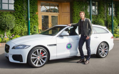 Andy Murray presenta la nuova Jaguar XF Sportbrake