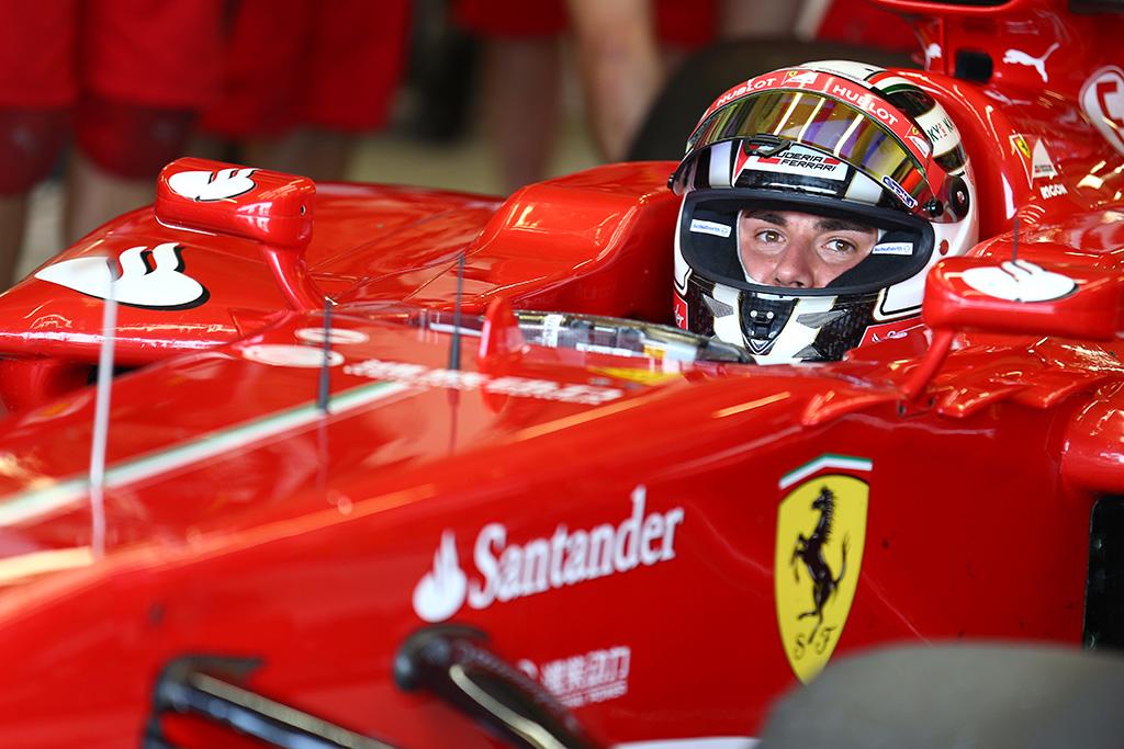 Rigon a Goodwood con la Ferrari F1 Campione