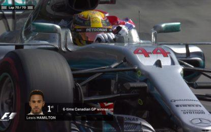 Canada: dominio Hamilton, Vettel 4° resta leader