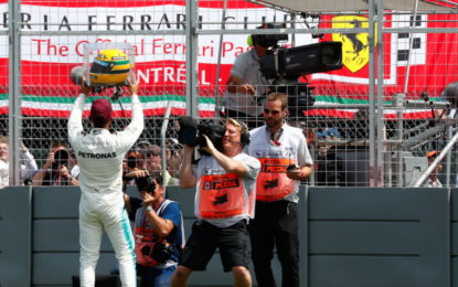 Hamilton e l'emozione del pilota e del tifoso