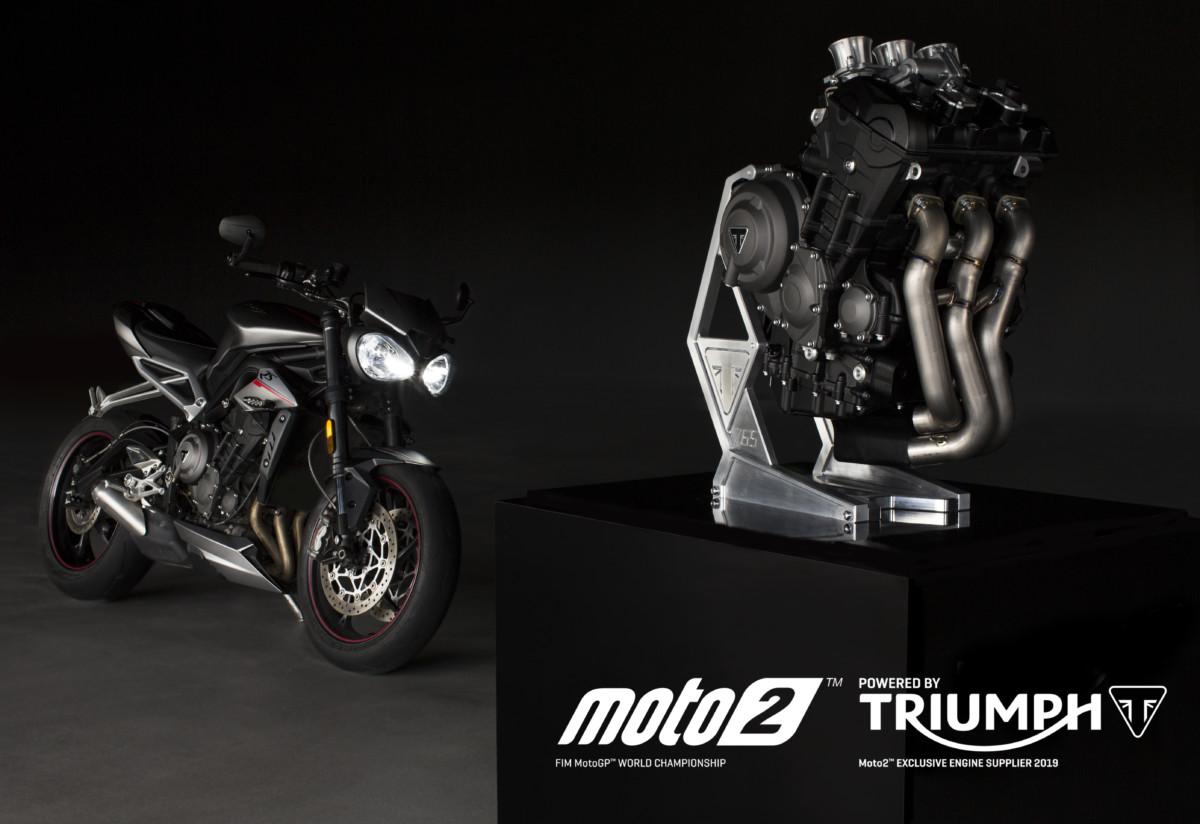 Triumph: dal 2019 fornitore unico motori in Moto2