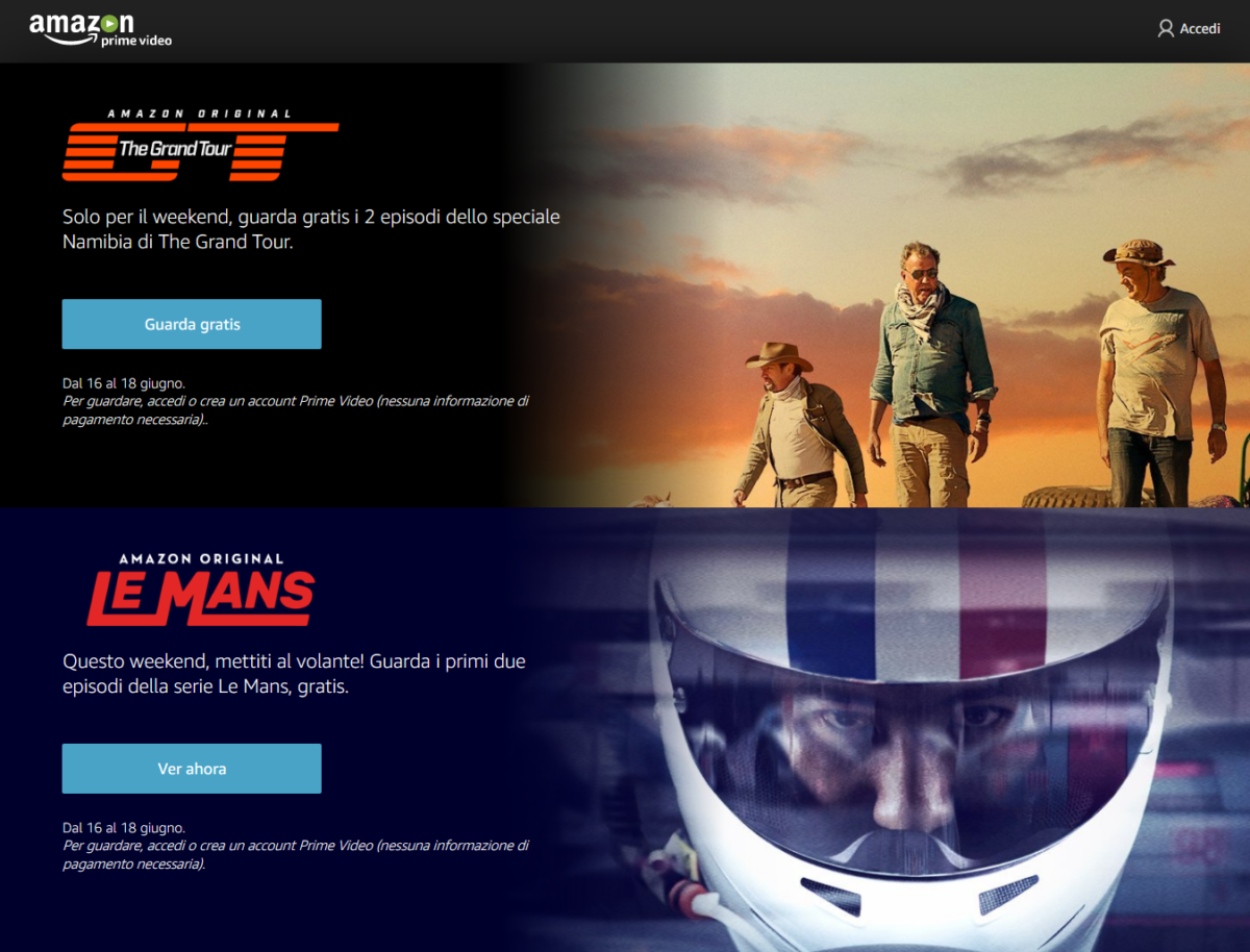 Le Mans gratis nel weekend su Amazon Prime Video