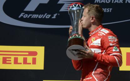 Ungheria: le parole di Vettel ai fans dopo la vittoria