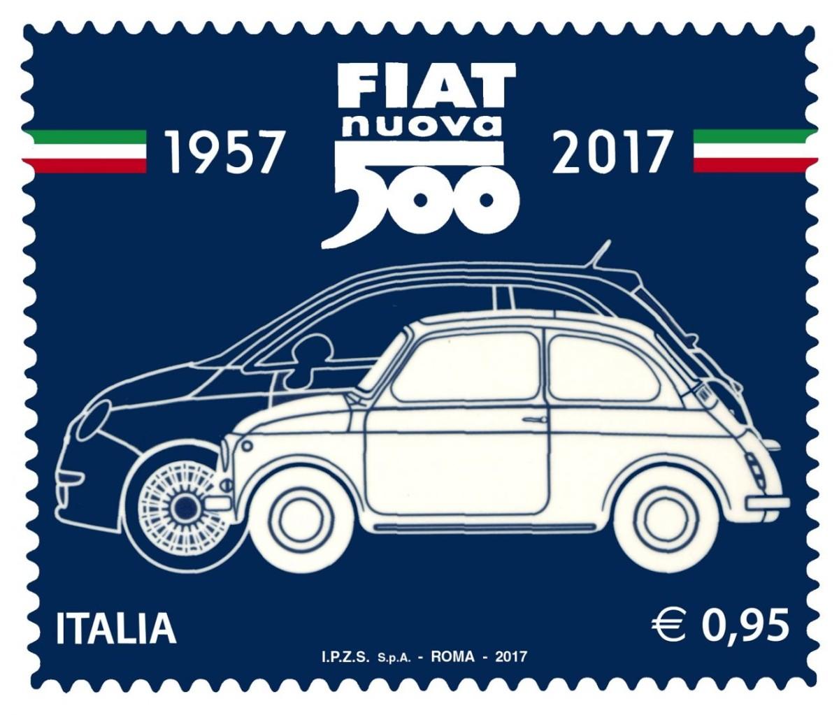 Un francobollo celebrativo per la Fiat 500