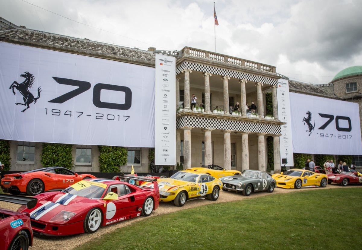 Goodwood: Ferrari in forze per festeggiare i 70 anni